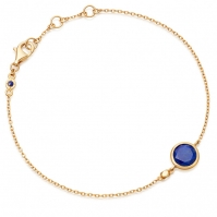 18ct Yellow Gold Spectical Set Lapis Bracelet