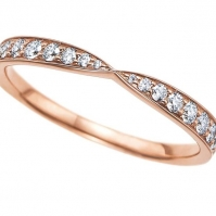 R 18ct Rose Gold Diamond set Eternity ring