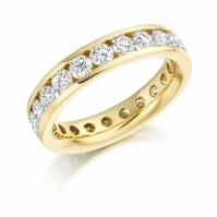 R 18ct Yellow Gold Channel set Full Eternity ring