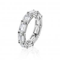 R Baguette Diamond Full Eternity ring, mounted in 18ct White Gold