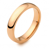 4mm Rose Court 18ct Rose Gold Wedding Band