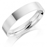 5mm Platinum Flat Court Wedding Band