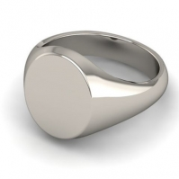 9ct White Gold Signet Ring