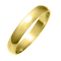 3mm D Shape, 9ct Yellow Gold Wedding Band