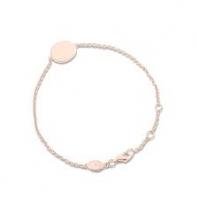 18ct Rose Gold Disc Bracelet