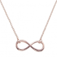 18ct Rose Gold Infinity pendant