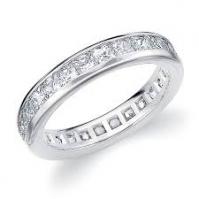 Platinum Channel Set Brilliant Cut Full Eternity Ring