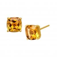 9ct Yellow Gold Citrine Studs