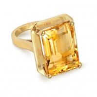 9ct Yellow Gold Citrine Single Stone