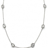 18ct White Gold Spectical Set Diamond Necklace