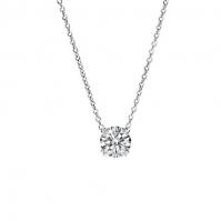 18ct White Gold 4 Claw Diamond Pendant