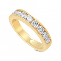 18ct Yellow Gold Channel Set Half Eternity