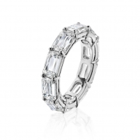 18ct White Gold Baguette Diamond Full Eternity Ring