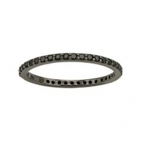 18ct Black Diamond Full Eternity Ring, With Black Rhodium Finish